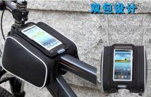 Сумка на раму велосипеда с чехлом под телефон Vivo