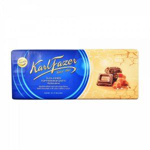 Шоколад KARL FAZER 200г Молочный с соленой карамелью