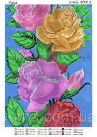 ЮМА ЮМА-4506а Розы схема для вышивки бисером купить оптом в магазине Золотая Игла - вышивка бисером