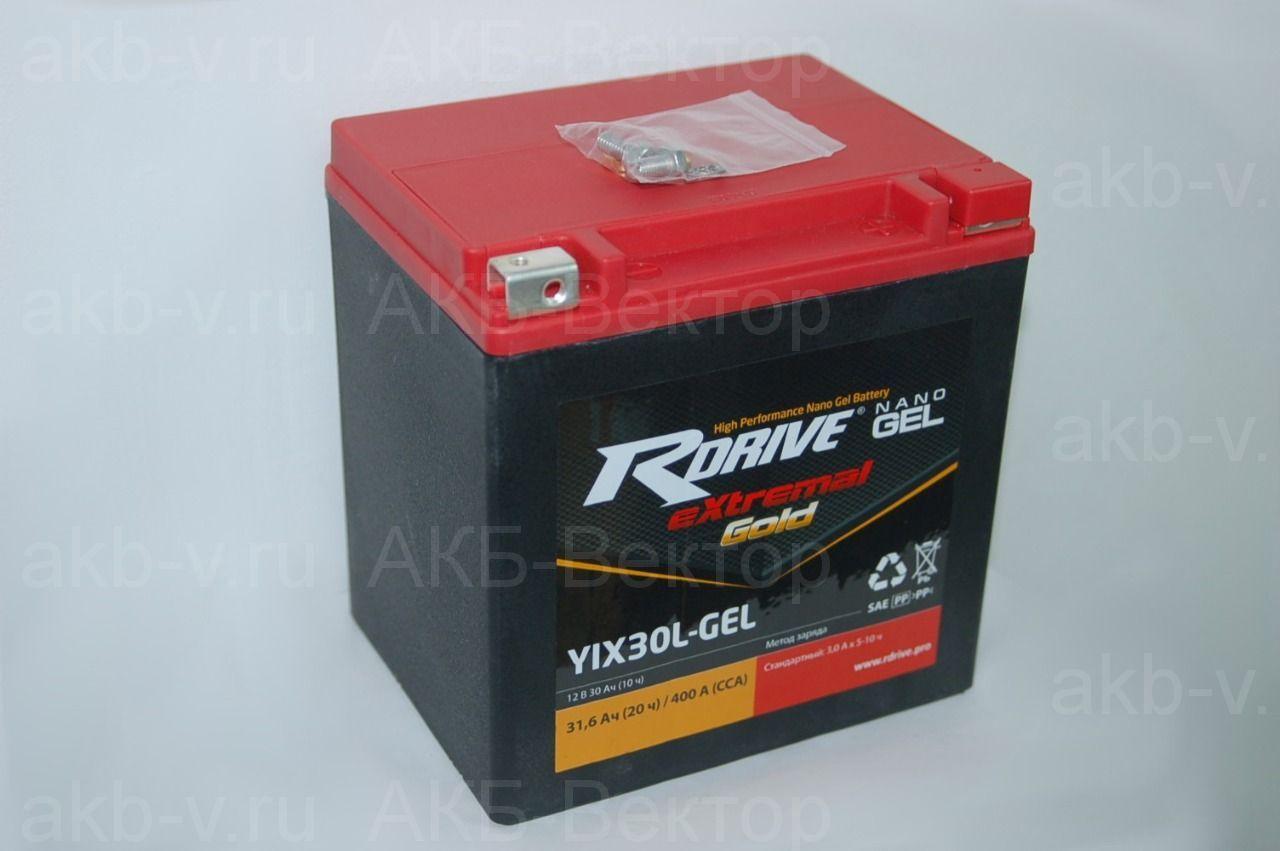 rDrive eXtremal Gold Gel YIX30L-GEL  (30Ач) (NANO-GEL/FA)