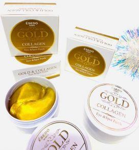 Гидрогелевые патчи для глаз Esedo Korea Gold с частицами золота
