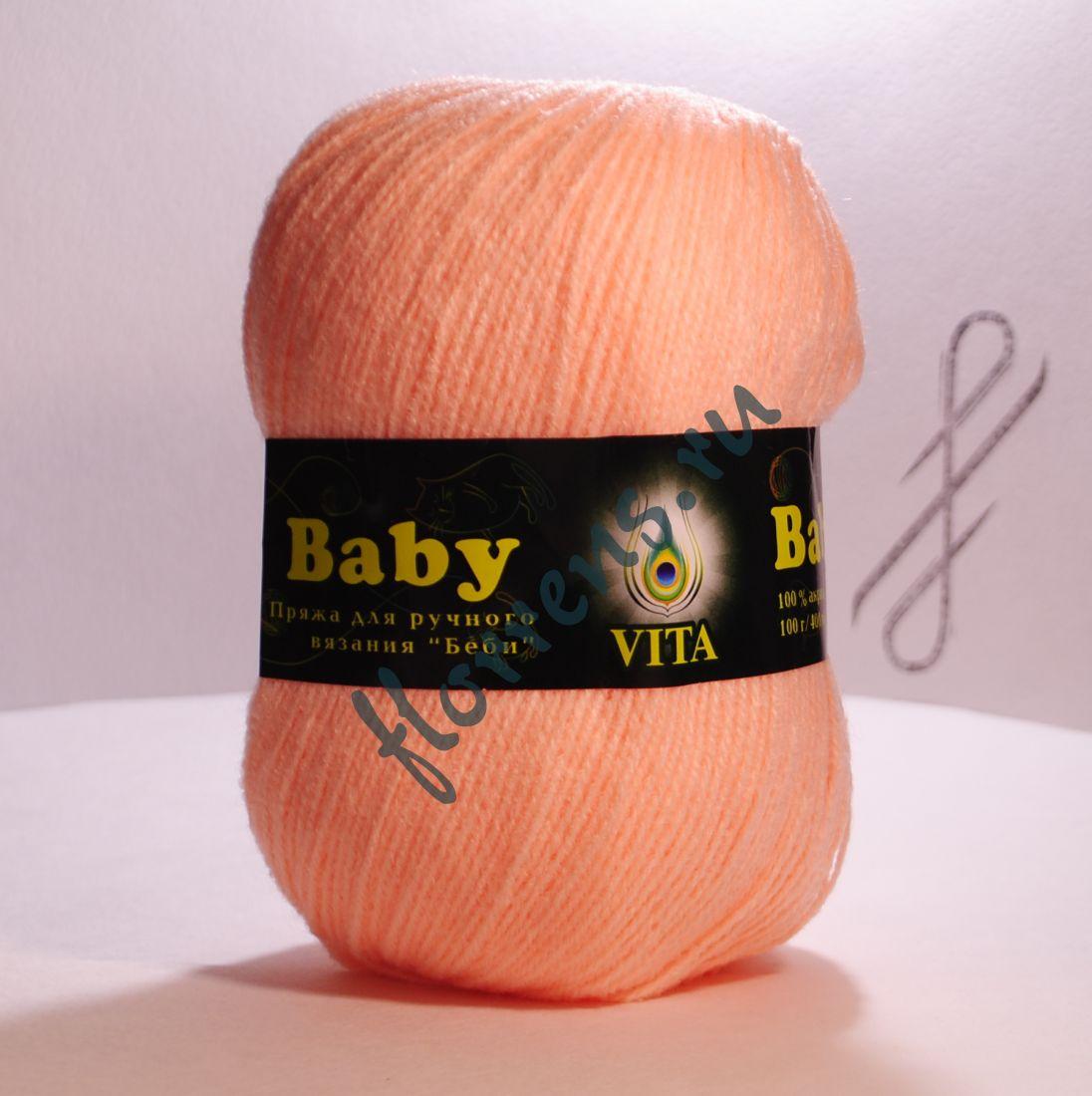 Пряжа Baby / 2858 персик