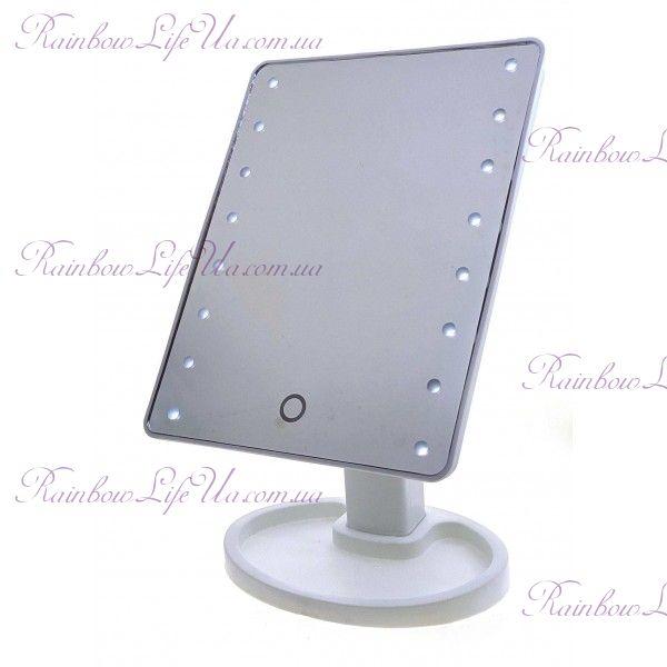 "Зеркало настольное с LED подсветкой на батарейках ""Красотка"""