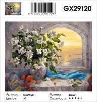 Картина по номерам на подрамнике GX29120, Дандорф Ольга, букет и море
