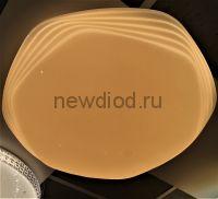Управляемый светодиодный светильник KVAZAR 8130 140Вт-35м² 6/3/4000K пульт 755мм белый Oreol