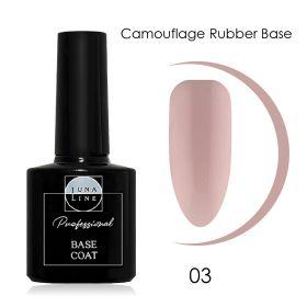 Базовое камуфлирующее покрытие для гель-лака LUNA LINE Camouflage Rubber (10 ml) №3