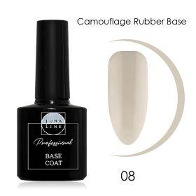 Базовое камуфлирующее покрытие для гель-лака LUNA LINE Camouflage Rubber (10 ml) №8