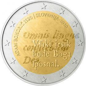 500 лет со дня рождения Адама Бохорича  2 евро Словения 2020