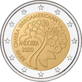 50 лет избирательному праву женщин и XXVII Иберо-американский саммит 2020 2 евро Андорра 2020 (2 монеты)