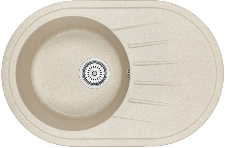 Врезная кухонная мойка Granula Standart 7601 76х50см