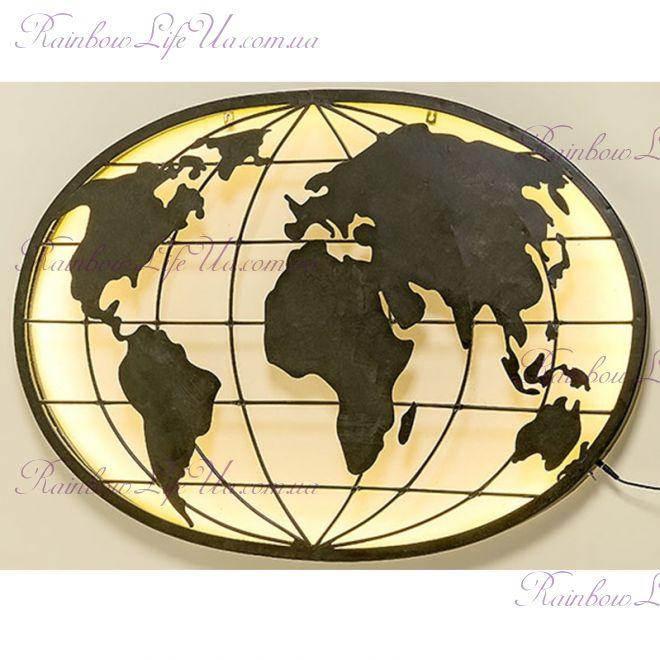 """Ночник настенный светодиодный """"Карта мира"""""""
