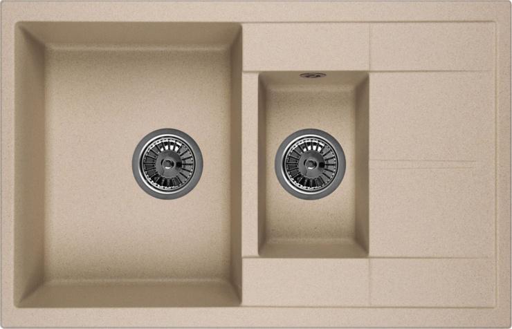 Врезная кухонная мойка Granula 7802 77.5х49.5см