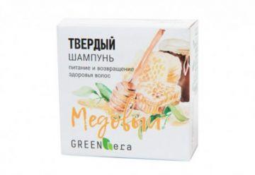 Green Era Твердый шампунь Медовый, восстановление здоровья волос