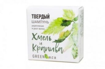 Green Era Твердый шампунь Хмель и крапива, рост и укрепление волос
