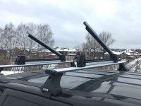 Багажник для лыж и сноубордов - крепление Inter для 3 пар лыж / 2 сноубордов (серебро)