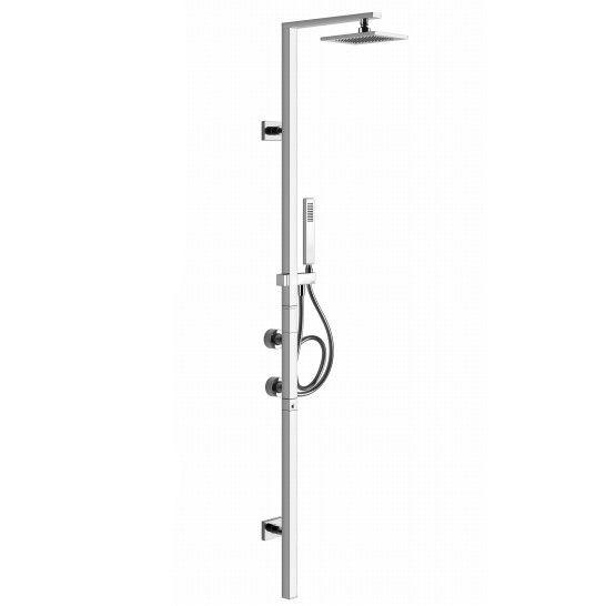 Душевая колонна с тропическим душем Gessi Rettangolo 23405 ФОТО