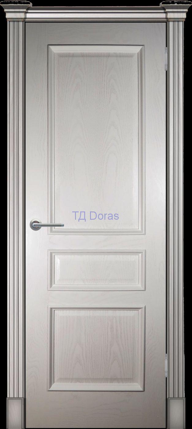 Багетная межкомнатная дверь «Оливия классика», шпон Ясень, цвет Ваниль, глухая