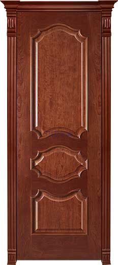 Межкомнатная дверь СОФИЯ+, шпон Ясень, цвет Миланский орех, глухая