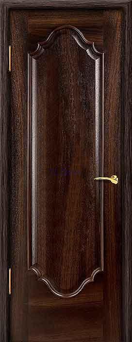 """Межкомнатная дверь """"Престиж 1"""", шпон Ясень, цвет Миланский орех, глухая"""