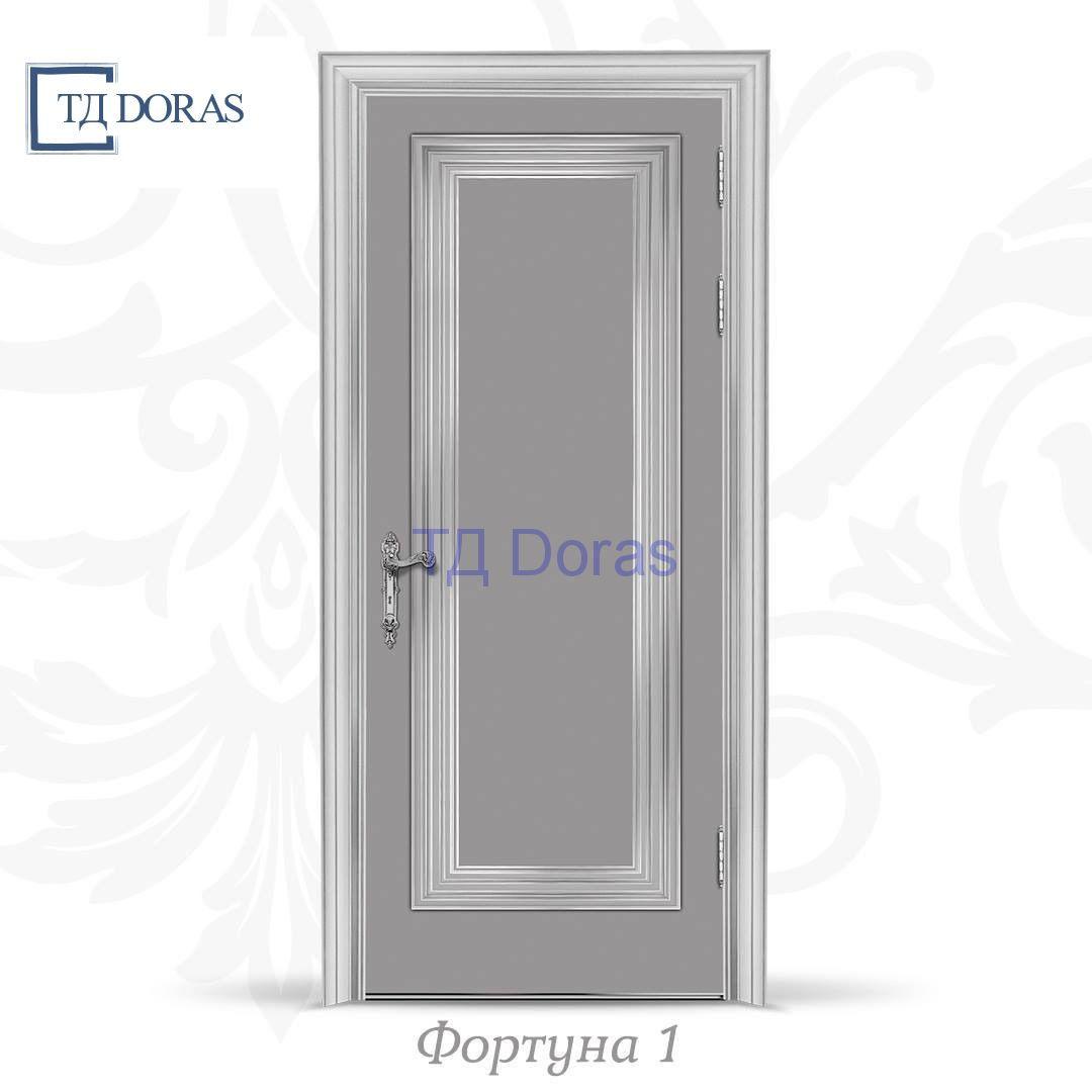 """Межкомнатная дверь """"Фортуна 1"""" , эмаль Платинум грей"""