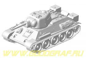 Танк T-34>(штамп. башня)