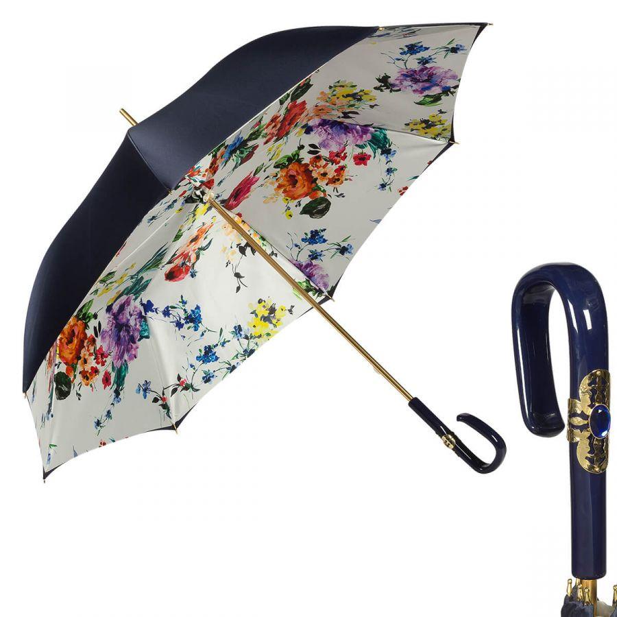 Зонт-трость Pasotti Blu Ticolori Plastica Fiore