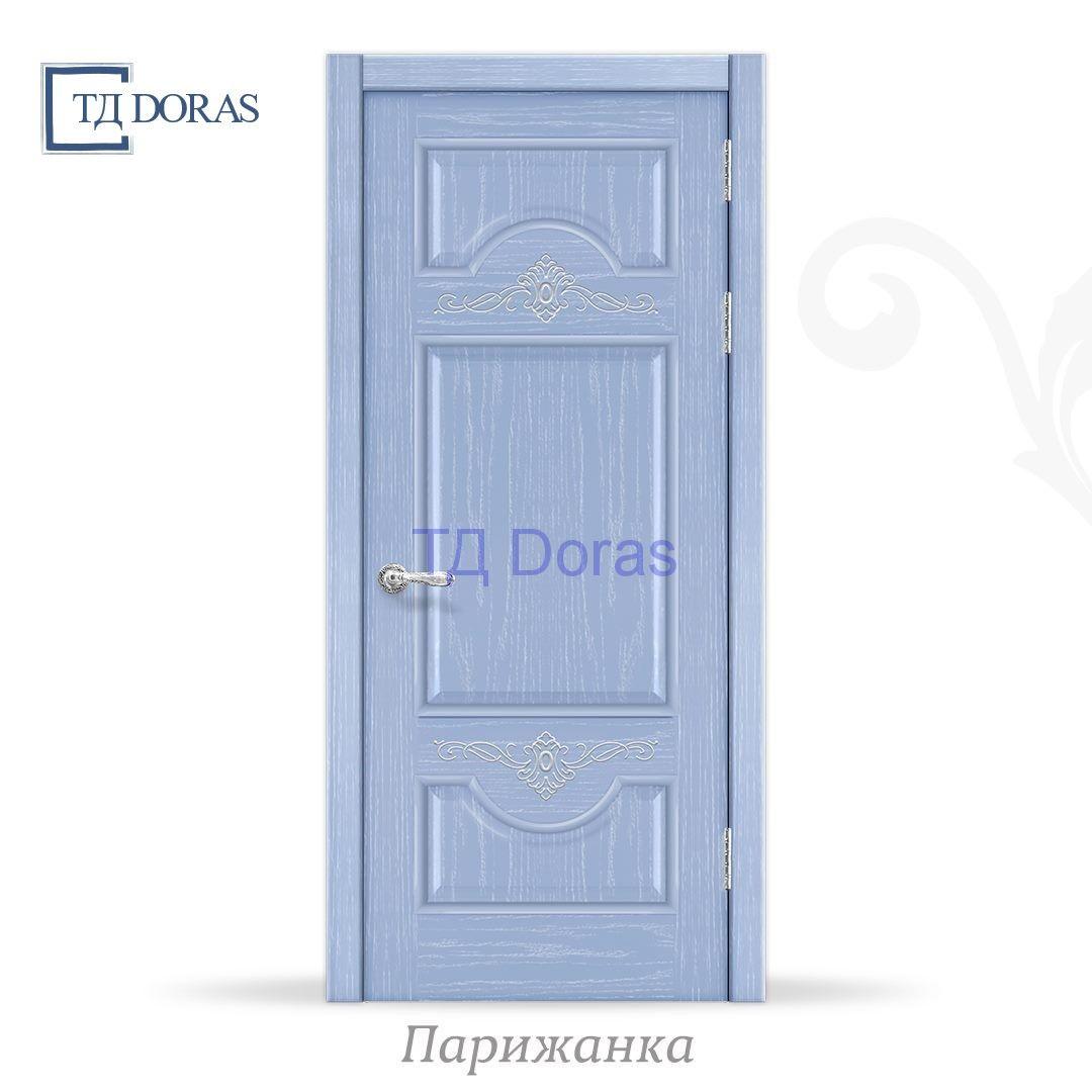 """Межкомнатная дверь """"Прованс 3"""" шпон Ясень, цвет Лаванда, глухая"""