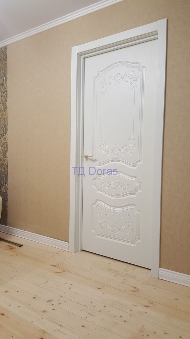 """Межкомнатная дверь """"Елизавета 2"""", массив в ПВХ, цвет Дримвуд белый, глухая"""