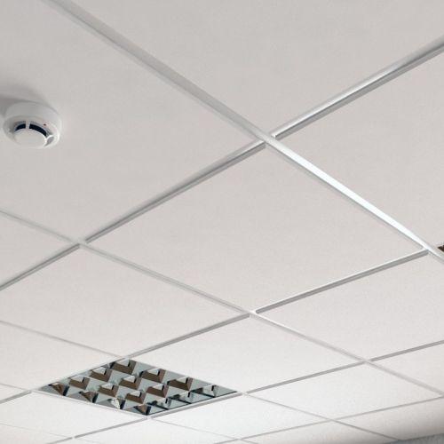 Потолок кассетный армстронг белый металл
