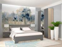 Спальня Аталия-2 Сонома-Графит Софт