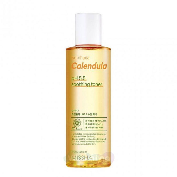 Missha Успокаивающий тонер с календулой Su:Nhada Calendula pH Balancing & Soothing Toner, 175 мл
