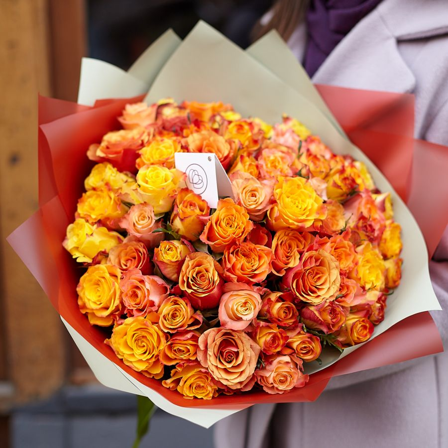 Акция: 51 оранжевая роза