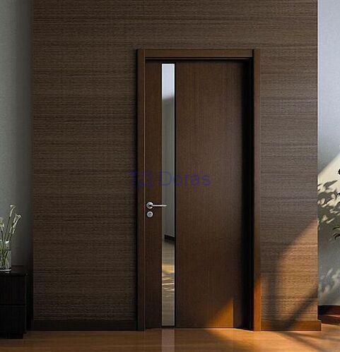 """Межкомнатная дверь """"Оскар 8"""" массив в ПВХ покрытии, стекло зеркало рефлекс, цвет Венге"""