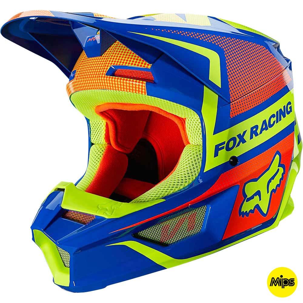 Fox 2021 V1 Oktiv Blue (MIPS) шлем внедорожный