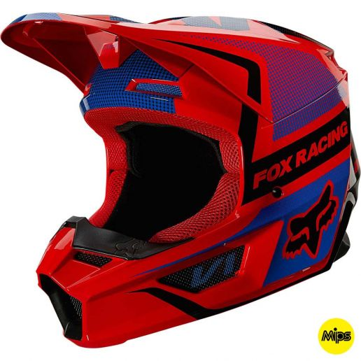 Fox 2021 V1 Oktiv Fluorescent Red (MIPS) шлем внедорожный