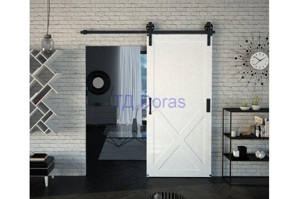 """Межкомнатна дверь """"Л 4"""" массив в ПВХ покрытии ПВХ, цвет Белый снег матовый, глухая"""
