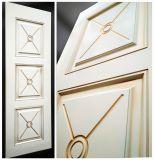 """Межкомнатна дверь """"Андрэ 9"""" массив в ПВХ покрытии ПВХ, цвет Белый снег матовый с патиной, глухая"""