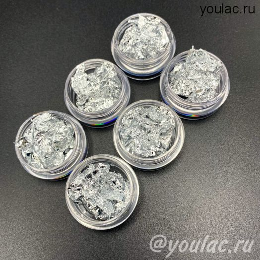 Поталь- серебро, 1 штука