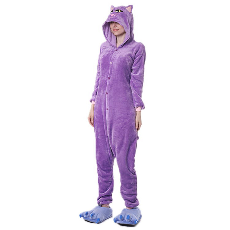 Пижама Кигуруми Кошка Фиолетовая