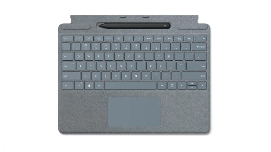 Клавиатура Microsoft Surface Pro X Signature Keyboard with Slim Pen Alcantara (Ice Blue)