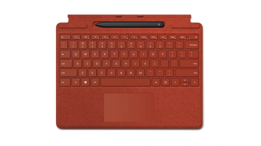 Клавиатура Microsoft Surface Pro X Signature Keyboard with Slim Pen Alcantara (Poppy Red)