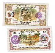 100 долларов США - Индианка (Indian woman). Памятная банкнота