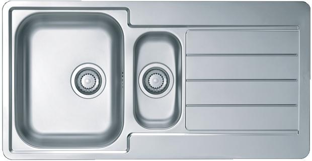 Интегрированная кухонная мойка ALVEUS Line 10 98х50см