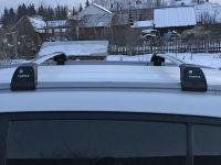 Багажник на интегрированные рейлинги Kia Sportage 3, Turtle Tourmaline V2, крыловидные дуги (серебристый цвет)