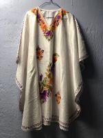 Белая туника из натурального индийского шелка, купить