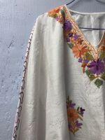 Белая туника из натурального индийского шелка, интернет магазин