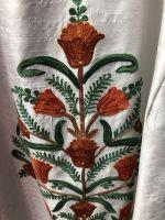Белый индийский шёлк с вышивкой. Платье свободного размера, Москва