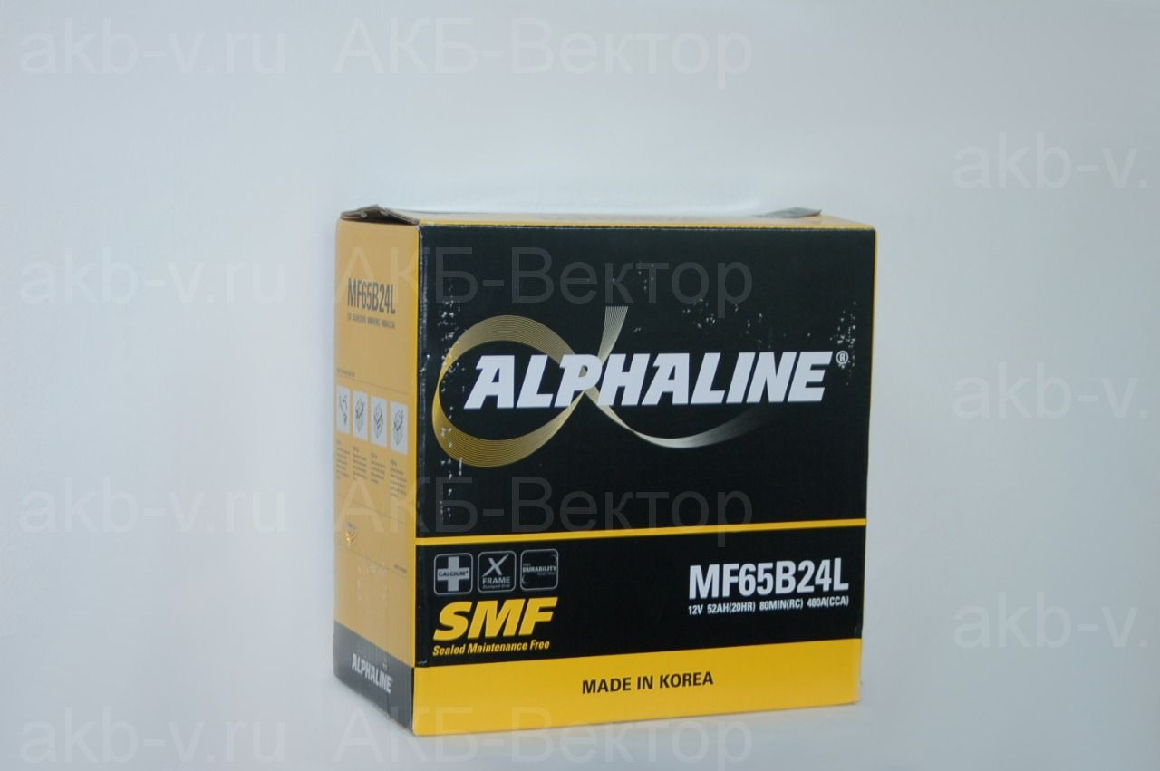 Alphaline Standart 52Ач 480А(CCA) (65B24L/R)