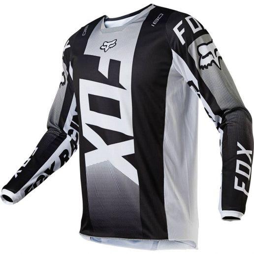 Fox 2021 180 Oktiv Black/White джерси для мотокросса
