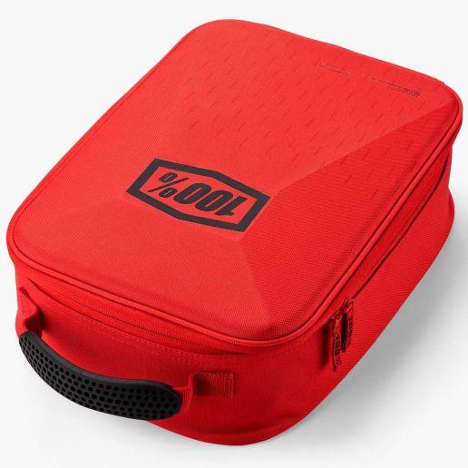 100% Goggle Case Red/Black, сумка для хранения очков